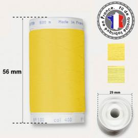 Les fils jaunes en polyester - bobine 500m