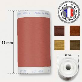 Les fils marrons en polyester - bobine 500m