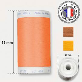 Les fils oranges en polyester - bobine 500m
