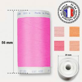 Les fils roses polyester - bobine 500m