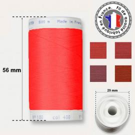 Les fils rouges en polyester - bobine 500m