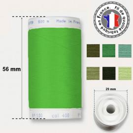 Les fils verts en polyester - bobine de 500m