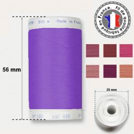Les fils violets en polyester - bobine 500m