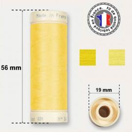 Les fils jaunes 100% coton - bobine 90m