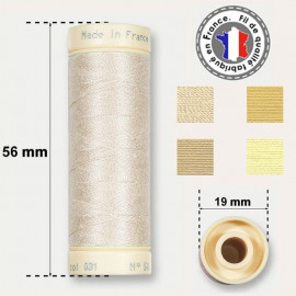 Les fils beiges 100% coton - bobine 90m