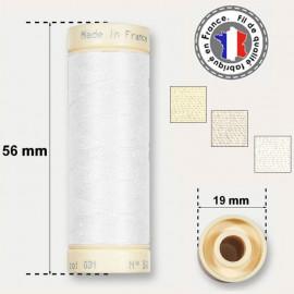 Les fils blancs 100% coton - bobine 90m
