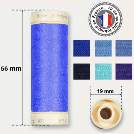 Les fils bleus 100% coton - bobine 90m