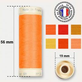 Les fils oranges 100% coton - bobine 90m