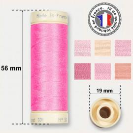 Les fils roses 100% coton - bobine 90m