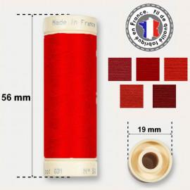 Les fils rouges 100% coton - bobine 90m