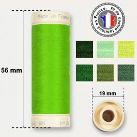Les fils verts 100% coton - bobine de 90m