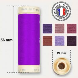 Les fils violets 100% coton - bobine 90m