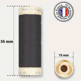 Fil de coton noir - bobine de 90m