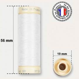 Fil de coton blanc - bobine de 90m
