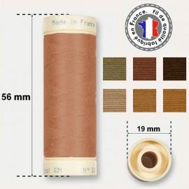 Les fils marrons 100% coton - bobine 90m