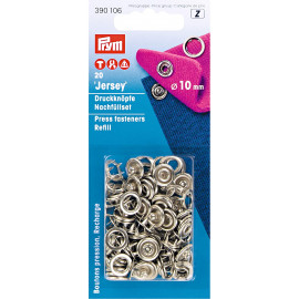 Prym Boutons pression Jersey recharges sans outil 10mm
