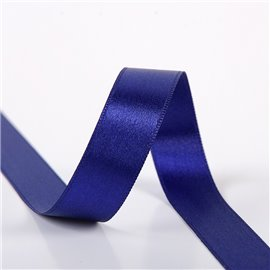 Bobine 25m ruban satin double face bleu