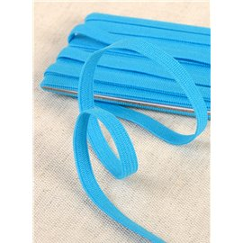 Elastique souple Turquoise 5mx5mm Azo free
