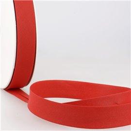 Disquette de 40m biais replié Rouge ponceau pour tout textile