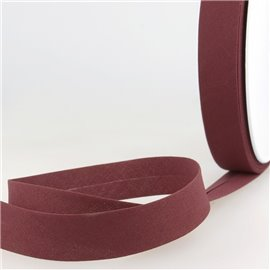 Disquette de 40m biais replié Aubergine pour tout textile