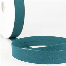 Disquette de 40m biais replié Bleu canard pour tout textile