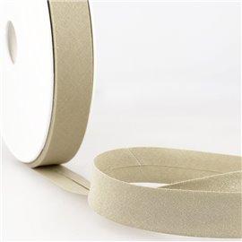 Disquette de 40m biais replié Taupe pour tout textile