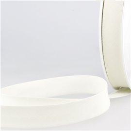 Disquette de 40m biais replié Blanc cassé pour tout textile