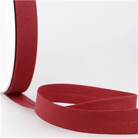 Disquette de 40m biais replié Rouge de Falun pour tout textile