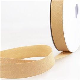 Disquette de 40m biais replié Vanille pour tout textile