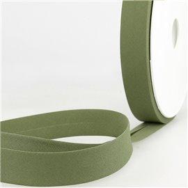 Disquette de 40m biais replié Vert lichen pour tout textile