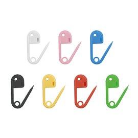 36 épingles de marquage plastique 18mm multicolore