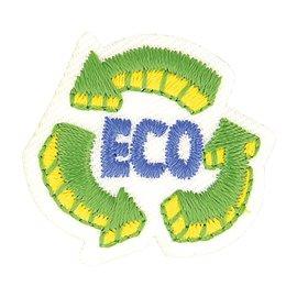 Lot de 3 écussons thermocollants éco friendly tissu bio eco 7cm x 5cm