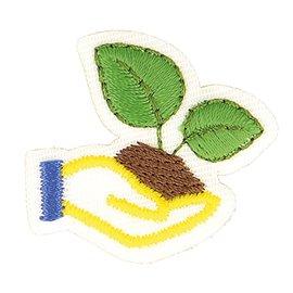 Lot de 3 écussons thermocollants éco friendly tissu bio main 7cm x 5cm