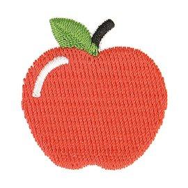 Lot de 3 écussons thermocollants pomme rouge 3cm x 2,5cm