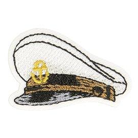 Lot de 3 écussons thermocollants chapeau marin capitaine 3cm x 2,5cm