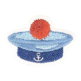 Lot de 3 écussons thermocollants chapeau marin marin 3,5cm x 2,5cm