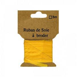 Ruban de soie à broder 4mm de 3 mètres Abricot