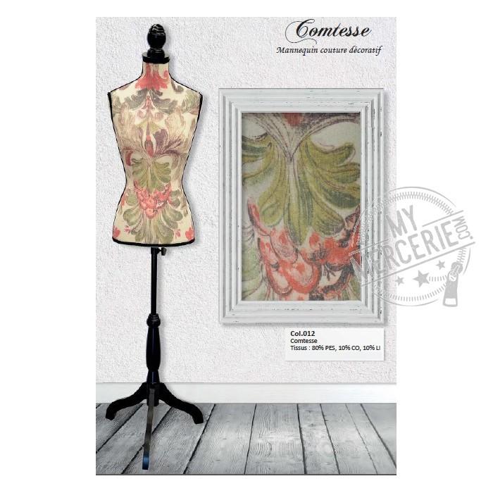 mannequin couture d coratif motif comtesse mymercerie. Black Bedroom Furniture Sets. Home Design Ideas