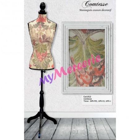 Mannequin couture décoratif motif Comtesse
