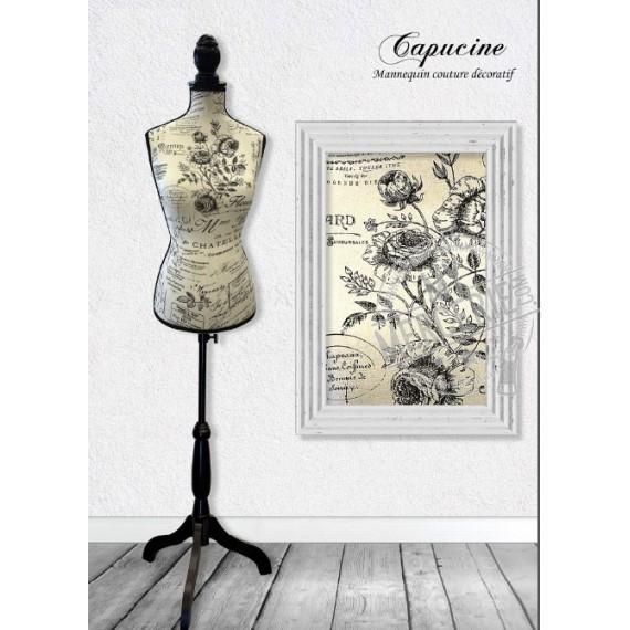 Mannequin couture décoratif motif Capucine