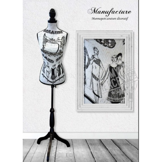 Mannequin couture décoratif motif Manufacture