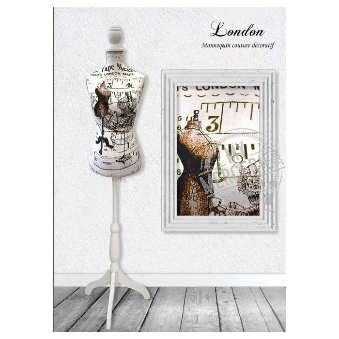 Mannequin couture décoratif motif London