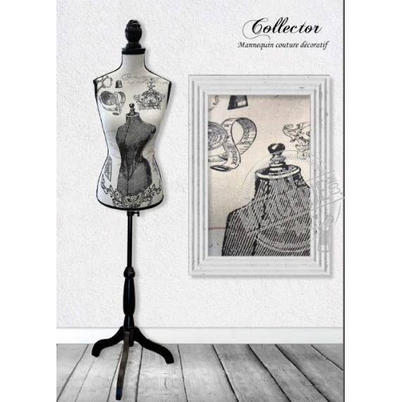 Mannequin couture décoratif motif Collector