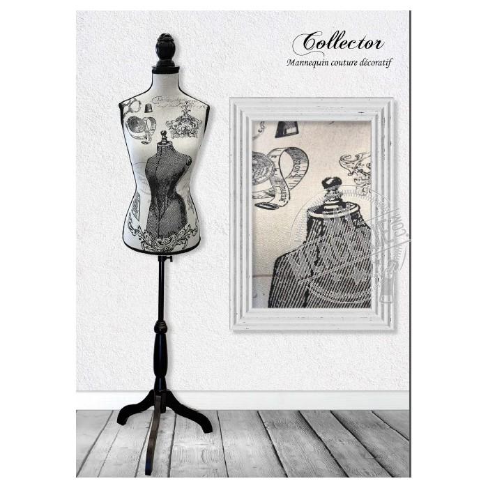 mannequin couture d coratif motif collector vente en ligne d 39 articles de mercerie. Black Bedroom Furniture Sets. Home Design Ideas