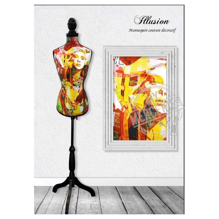 Mannequin couture décoratif motif Modernity