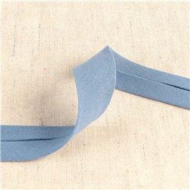 Bobine 20m biais double gaze Bleu Lavande 27mm