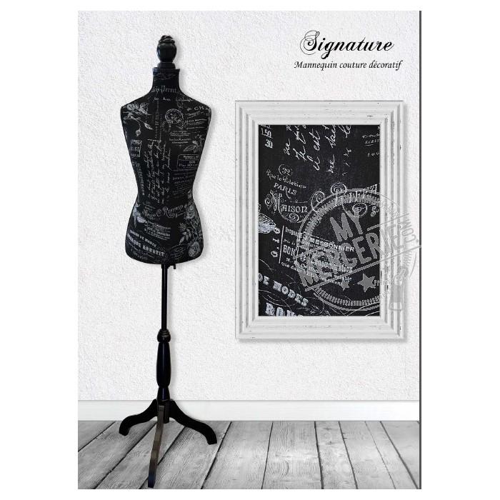Mannequin couture décoratif motif Signature