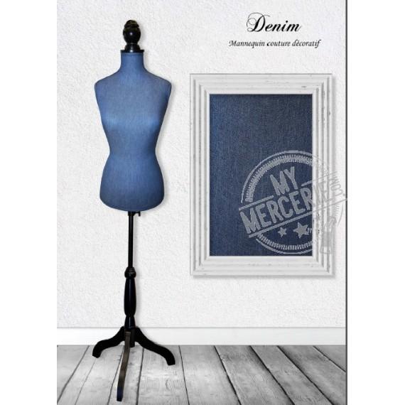 Mannequin couture décoratif motif Denim