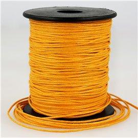 Bobine 70m cordelière aspect cuir 1mm Orange 1mm