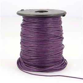 Bobine 70m cordelière aspect cuir 1mm Violet 1mm
